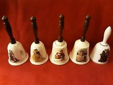 5 Norman Rockwell Limited Edition Danbury Mint & Gorham Bells Japan W. Germany