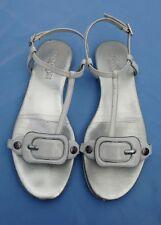 Hogan ladies white patent leather  flat sandals Size: Eu 37 Uk 4.5 Us 6.5