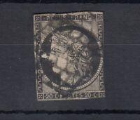 France 1850 20c Ceres Imperf Good Margins SG9 Used J4456