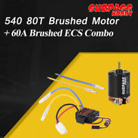 SURPASS HOBBY 540 80T Brushed Motor Balck+60A Brushed ESC for 1/10 SCX10 RC Car