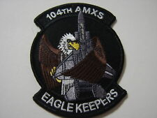 104th AMXS EAGLE KEEPERS PATCH USAF FULL COLOR  - GA18-1