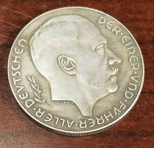 Nazi Third Reich Adolf Hitler coin 1938 Exonumia WW2 WWII German