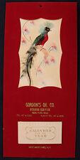 Original 1963 Good Luck Mystery Bird Calendar East Moriches NY