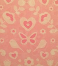 Twin Sheet Set Butterfly Heart Bird Flower Maggie Miller Girl Pink Youth Child