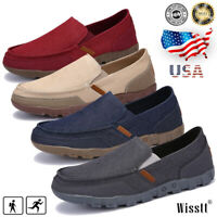 Summer Mens Slip On Canvas Shoes Driving Loafers Fashion Casual Breathable Shoes