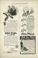 1920 Ives Toy Ad Train Railroad Railway Boats + Auto Wheel Coaster Wagon