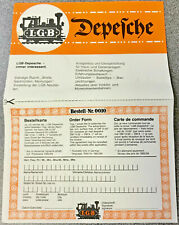 LGB LEAFLET - LIMITED EDITION - G SCALE - G GAUGE - FREE NEXT DAY DELIVERY