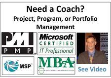 I will provide coaching on Project, Program or Portfolio Management