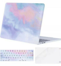 MacBook Pro 12 Inch Case Clouds Watercolor Pink Blue Keyboard Plastic