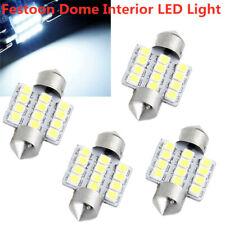4x White 5050 31mm 12 LED SMD Festoon Dome Car Bulb 3021 3022 DE3175 Light Lamp