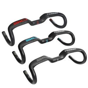 UD Carbon Fiber Riser Bar Bent Road Bike Drop Bar Handlebars 31.8*400/420/440mm