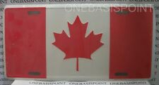 Canada Flag License Plate Aluminum Canadian Embossed Sign Car Tag Auto Vanity
