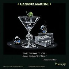 MARTINI ART PRINT Gangsta Martini Living Large Michael Godard