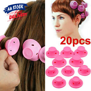 10/20PCS No Heat Silicone Rollers Care Magic DIY Hair Curlers Soft Clip New