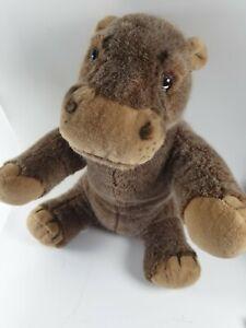 vintage merrythought hippo plush brown colour