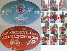 2018 England National Rugby Sevens,team,signed,autographed,WC Rugby ball,proof