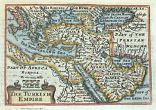 TURKISH EMPIRE, ARABIA, Van Den Keere, Miniature Speed original antique map 1675