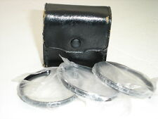VIVITAR 55mm Close Up +1 +2 +3  filter set with case and manual  #001741