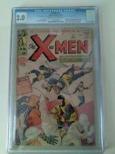 X-men 1 1963 CGC 2.0 Unrestored First X-men and Magneto