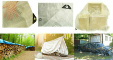 Small / Large TARPAULIN Waterproof Camping Sheet Garden Cover + 10 FREE BUNGEES