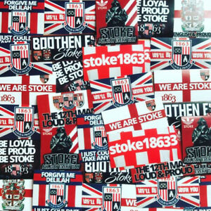 100 x Stoke Ultra Style Stickers inspired by City Programme Poster Phone Kit
