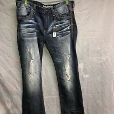 Affliction Blake Fleur Rogue 110RS291 Straight Cut Denim Jeans 38x34