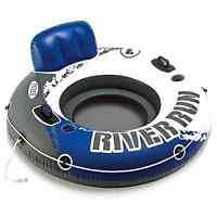 Intex River Run Swimming Pool Raft Float Cup Holder Lake Handles Seat Chair Tube