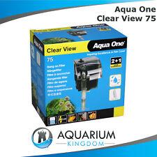 Aqua One ClearView 75 Hang On Filter - Aquarium Fish Tank Clear View 190L/H