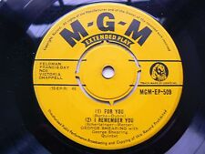 george shearing       for you (4 track ep)  EX-