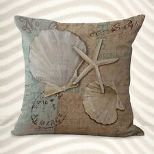 US Seller-beach coastal seashell starfish cushion cover decorative sofa pillows