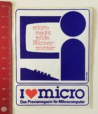 Aufkleber/Sticker: I Love Micro - Praxismagazin Für Mikrocomputer (250416196)