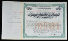 The Great A & P Tea Company - George Huntington Hartford Autograph