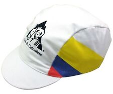 CAFE' DE COLOMBIA RETRO CYCLING TEAM BIKE CAP - Vintage,Fixed Gear,Made in Italy