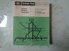 BRITISH RAIL SOUTHERN REGION CENTRAL DIVISION MAIN LINE TIMETABLE 1965-1966