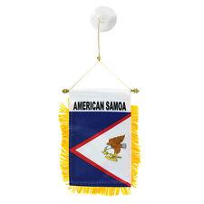 American Samoa Mini Banner Flag Car & Home Window Mirror Hanging 2 Sided
