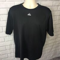 Adidas Men's Black Short Sleeve Shirt Size Large Tee Active Athletic Soccer A13