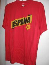 New Espana 2010 Soccer tshirt Small Medium or Large Shirt knit Spain ShortSleeve