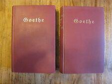 ANTIK 2 Bände Goethes Werke mit einer Einführung von Gerhart Hauptmann K0019