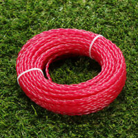 Trimmer Line Roll Cord Wire Weed Red Nylon 15m*3mm String Brand New New
