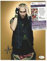 TABOO - Singer THE BLACK EYED PEAS - 8.5x11 Signed Photo JSA COA