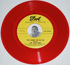 Doo Wop 45~THE FOUR DOTS~You Won't Let Me Go / My Dear~Dot Red Vinyl Repro