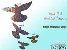 NEW! Glitter DOVE BIRDS, Colour Changing Glitter Wall Stickers Abelli Home Decor