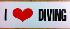 "Scuba Diving Bumper Sticker Decal ""I Love Diving"" DS85"