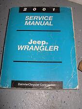 2001 JEEP TJ SERVICE MANUAL SHOP REPAIR WORKSHOP WRANGLER