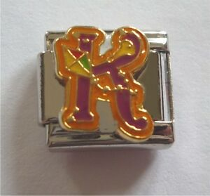 9mm Classic Size Italian Charms Letter Alphabet Letters K for Kite