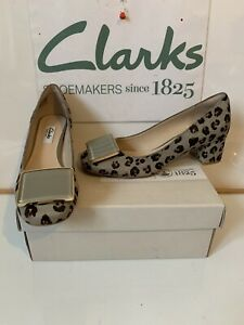 Clarks Chinaberry Fun Smart Leather Comfy Shoes Size UK 4.5 EU 37.5 NEW