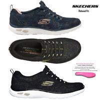 Skechers Womens Comfortable Memory Foam Empire D'Lux Charming Grace Trainers