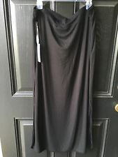 New Soldout Chico's Zenergy Retreat Black Knit Maxi Skirt Size 3 = XL 16/18 NWT
