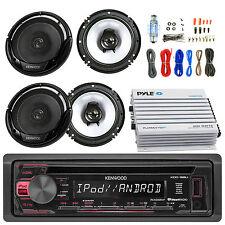 "Bluetooth 400W Amplifier Set,6.5"" Speakers, Kenwood Car USB CD AM FM  Receiver"