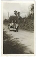 Ireland Macroom, Couple with Donkey Cart RP c 1950's Unposted, Social History